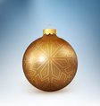 Christmas ball with snowflake vector image vector image