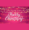 christmas lights and sparkling light flares on vector image vector image