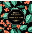 Christmas mistletoe holiday card vector image vector image