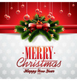 christmas with ribbon vector image vector image