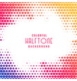colorful abstract halftone pattern background vector image vector image