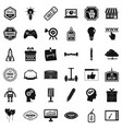 creative market icons set simple style vector image