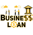 creative word concept business loan and people vector image vector image