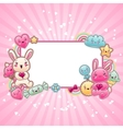 Cute child background with kawaii doodles vector | Price: 1 Credit (USD $1)