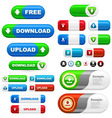 download and upload icon set vector image vector image