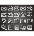envelope folder web icons vector image