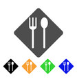 fork and spoon flat icon vector image vector image