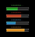 four modern preloaders or progress loading bars vector image vector image