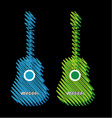 Guitars scribbled in marker vector image