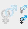 heterosexual symbol mesh 2d model and vector image vector image