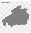 high quality map is a region portugal vector image vector image