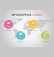 infographic design template with circle banners vector image vector image