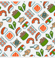 japanese food seamless pattern with thin line icon vector image vector image
