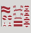latvia flag set collection of symbols heart vector image vector image