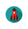 launching rocket start up business strategy icon vector image