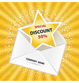 letter with discount notification vector image vector image