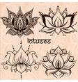 Lotuses set vector image vector image