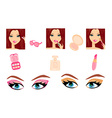 Make-up girl set vector image vector image