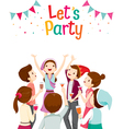 Man And Woman Fun In Party vector image vector image