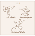 Martial arts vector image