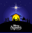 mary and joseph with bajesus vector image vector image