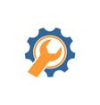 mechanical gear logo vector image vector image