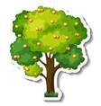 orange tree sticker on white background