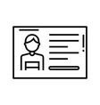 permission card line icon concept sign outline