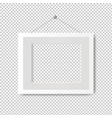 picture frame with transparent background vector image vector image