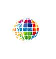 pixel world logo vector image