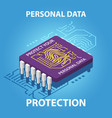 protect your personal data isometric vector image vector image