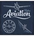 retro grunge aviation label vector image vector image