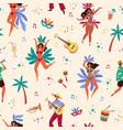 seamless pattern brazil carnival rio music fest vector image vector image