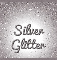 silver glitter background pink golden sparkling vector image vector image