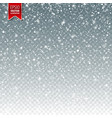 snow with snowflakes winter background for vector image vector image