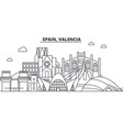 spain valencia architecture line skyline vector image vector image