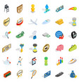 sport victory icons set isometric style vector image vector image