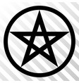 star pentacle eps icon vector image vector image