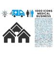 Town Buildings Icon with 1000 Medical Business vector image vector image