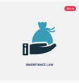 two color inheritance law icon from law vector image vector image
