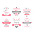 valentines day label vintage valentine card vector image