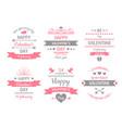valentines day label vintage valentine card vector image vector image
