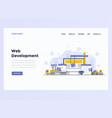web design flat modern concept - web development vector image vector image