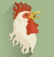 white rooster with open beak vector image