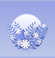 winter banner with white vector image vector image