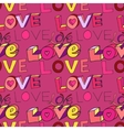 words i love you on pink background vector image vector image