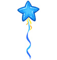 Blue balloon in star shape vector image