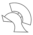 Gladiator helmet icon outline style vector image