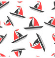 sailing ship seamless pattern background icon vector image