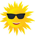 smiling sun with sunglasses vector image